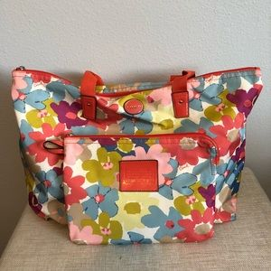 2 in 1 Floral Coach Bags